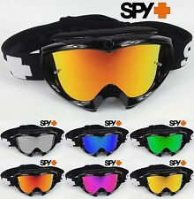 SPY OPTICS TARGA 2 ALLOY MOTOCROSS MX GOGGLES BLACK with GOGGLE-SHOP MIRROR LENS