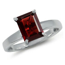 1.86ct. Natural Garnet 925 Sterling Silver Solitaire Ring