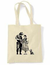 BANKSY STOP & SEARCH SHOULDER  TOTE  SHOPPING BAG - Wizard Of Oz Dorothy
