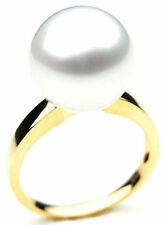 $6,399 Pacific Pearls AAA 14mm Australian south sea White pearl Ring