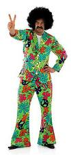 MENS HIPPIE FANCY DRESS COSTUME TROUSERS JACKET 60s 70s PARTY SUIT OUTFIT NEW