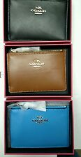 New Arrival! NWT Coach 65986 Mini Skinny ID Coin Key Card Case Beautiful Leather