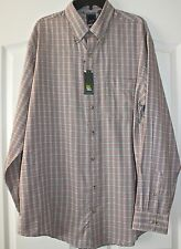 ~Arrow~Gray & Red Plaid Button Front Dress Shirt $60 ~Size LT,XLT~NWT
