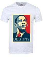 New Barack Obama T-Shirt - Mens Destiny  White