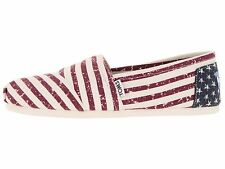 TOMS WOMENS CLASSICS AMERICANA FLAG CANVAS NEW SLIP-ON SHOES SIZE 6-9