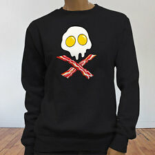 Dead Breakfast Eggs Bacon  York Scramble Eat Womens Black Sweatshirt