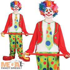 Funny Circus Clown Boys Fancy Dress Halloween Carnival Kids Child Costume Outfit
