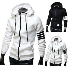 Mens Hoodie Hooded Sports Sweatshirt Tracksuit Jacket Tops Casual Coat Outerwear