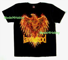 LAMB OF GOD T-Shirt Black Size S M L XL HEAVY GROOVE METAL EAGLE SKELETON TATTOO