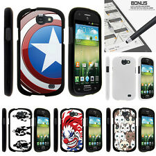 For Samsung Galaxy Express I437 Case Hard Snap On 2 Piece America Shield Hero