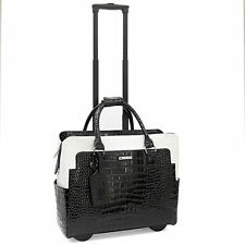 Cabrelli Portia Patent Womens Rolling Laptop Briefcase Bag Wheeled Case 716026