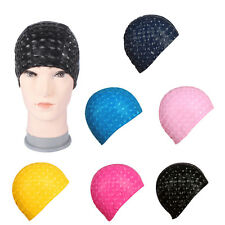Durable Flexible Sporty Latex Swimming Waterproof Swims Caps Bathing Hat Unisex