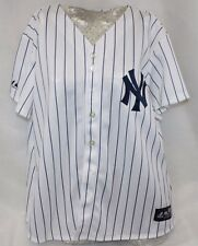 NEW Womens MAJESTIC New York NY YANKEES Home Pinstripe MLB Baseball Jersey