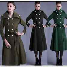 Womens Double Breasted Thick Winter Outwears Woolen Long Coats Jackets a016 new