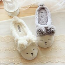 New Winter Women Fleece Warm Casual Shoes Cute Sheep Soft Indoor Home Slippers