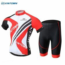 XINTOWN Team Outdoor Bike Cycling Short Sleeve Jersey (Bib) Shorts Set Red