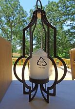 "PARTYLITE P91466 Marrakech HANGING VOTIVE HOLDER 10"" High Metal w/Glass Cup NIB"