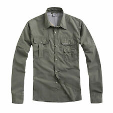 New Mens Outdoor Anti-UV Quick Dry Hiking Fishing Shirts Removable Long Sleeve