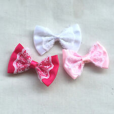 21PCS Satin Ribbon Bows Flowers Wedding Appliques Craft  Accessory