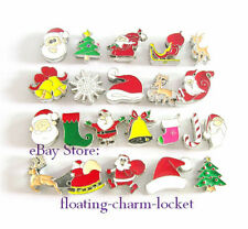 5pcs 8mm Mixed Christmas 8MM Slide Charms For Bracelet Phone Strip Free Shipping