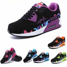 Fashion Women's Casual Walking Sneakers Lace-up Leather Running Sports Shoes