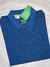 Nwt HUGO BOSS Paule Blue Polo Basic Tee Short Sleeve T-shirt Slim fit Moisture