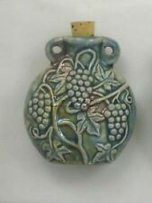 Raku Ceramic Pottery Bottle Necklace, Grape Vine, Choice of Lot Size & Price