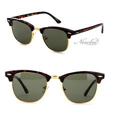 Half Frame Style Round Lens Circular Sunglasses Vintage Retro
