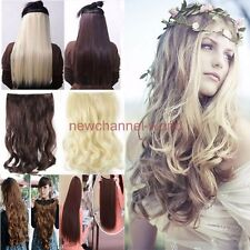 Long 3/4 Full head Clip in on Hair Extensions real as remy human hairpiece au82