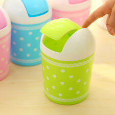 Plastic Dustbin Trash Cans Mini Desk Waste Container Rubbish Bin Table Decor