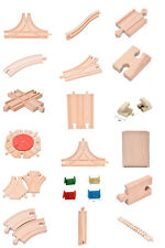 Diverse of Wooden Train Brio Compatible Assorted Track Wood Pieces Kid Toys Best
