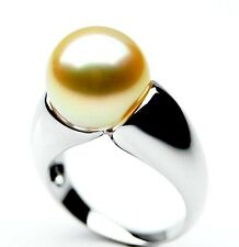 $8,999 Pacific Pearls® AAA 14mm Australian Golden  South Sea Pearl Ring