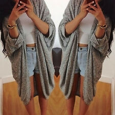 NEW Women's Batwing Top Poncho Knit Cape Cardigan Coat Knitwear Sweater Jacket