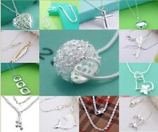 Xmas Gifts Special Price wholesale jewelry solid 925Silver Chain Necklace Charm