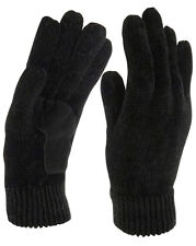Isotoner Women's Thinsulate Suede Palm Chenille Gloves