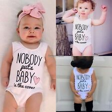 Toddler Newborn Baby Boy Girls Infant Jumpsuit Romper Clothes Bodysuit Outfit ED