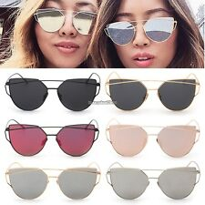NEW Unisex Mens Womens Mirrored Lenses Metal Frame Sunglasses Eyewear Glasses ED