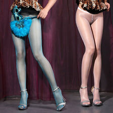 Ladies Womens Shiny Glossy Oil Tights Stockings Pantyhose Hosiery Show Sexy Hot