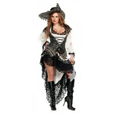Sexy Pirate Costume Adult Trashy Lingerie Design Halloween Wench Fancy Dress