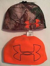 Under Armour Men's Realtree AP-Xtra Camo/Blaze Orange Reversible Beanie *choices