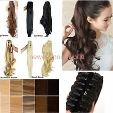 Real Claw Pony tail Ponytail Clip In Hair Extensions Wavy Curly Style Hairpiece