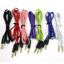 1M 3.5mm Male to Male Flat Car Stereo Audio Auxiliary AUX Cable Cord For MP3 PC