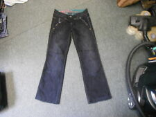 "Next The boyfriend Jeans Size 8R Leg 31"" Faded Dark Blue/Black Ladies Jeans"