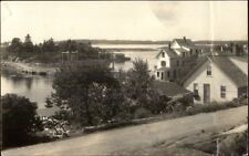 Vinalhaven ME Homes & Harbor Real Photo Postcard