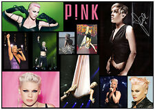 PINK ALECIA BETH MOORE HART SIGNED QUALITY CUSTOM DESIGNED MUSIC PHOTO COLLAGE