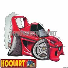Koolart Cartoon Ferrari F50 Red - Mens Gifts (333)