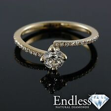 Engagement Ring Size 6 Pave Diamond 0.83 CT SI/G-H 14k Solid Gold Band Enhanced
