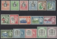 Jamaica 1956-8 QEII Definitives Hinged Mint (16) SG 159-74 (MJ2)