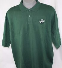 NEW Mens REEBOK NFL Team Apparel New York NY JETS Green Polo Golf Style Shirt
