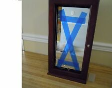 Gold Jewelry Safekeeper Lori Greiner Tabletop Spinning Cabinet Armoire W/Mirror